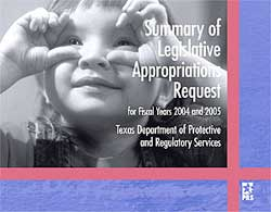 Cover of Summary of Legislative Appropriations Request