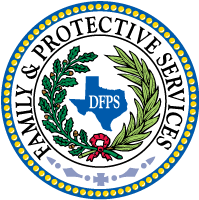 Seal of the Texas Department of Family and Protective Services