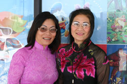 Lily Nguyen, left, owner of day care center and