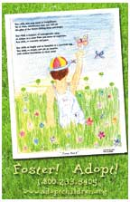 Child with butterfly Poster