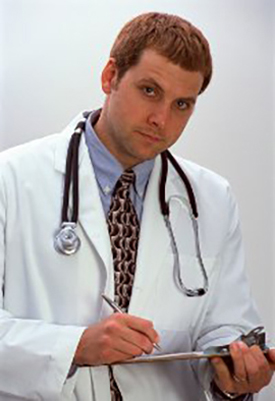 Doctor with pad