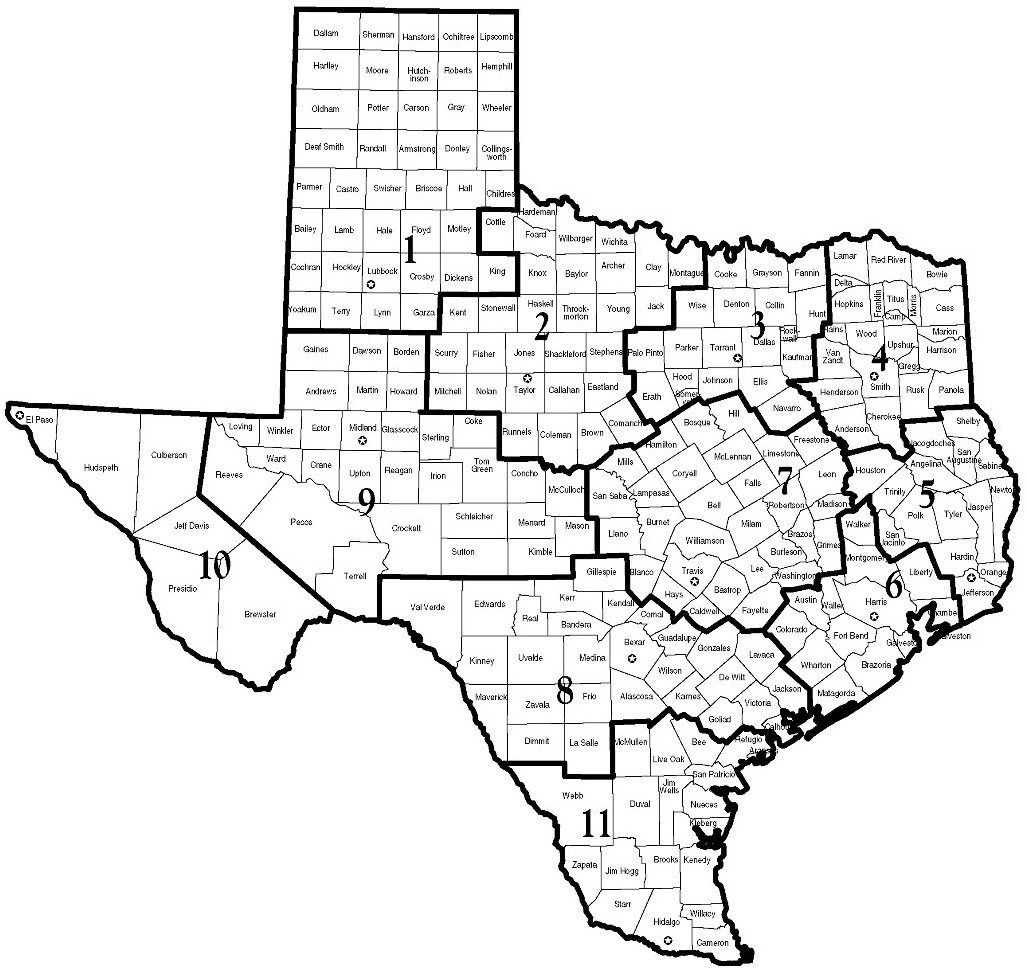 State Of Texas Map With Counties.Dfps Map Of Dfps Regions